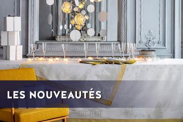 nappe serviette set de table sommets enneiges le jacqard francais
